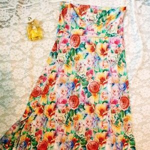 Lularoe Floral Maxi Skirt with Yoga Waistband